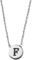 Silver ALLTHELUCKINTHEWORLD Necklace CHARACTER NECKLACE LETTER F - medium