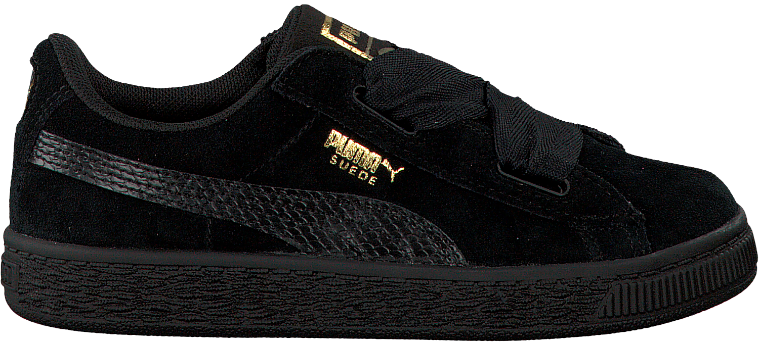reputable site fbec1 a908a Black PUMA Sneakers SUEDE HEART SNK PS - Omoda