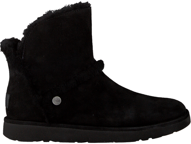 Black UGG Fur boots LUXE SPILL SEAM MINI - large