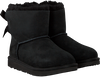 Black UGG Classic ankle boots MINI BAILEY BOW II KIDS - small