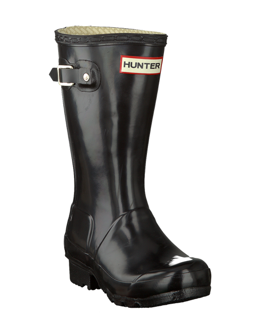 Black HUNTER Rain boots ORIGINAL KIDS GLOSS - large
