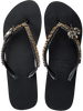 Black UZURII Flip flops GOLD FLY MH - small