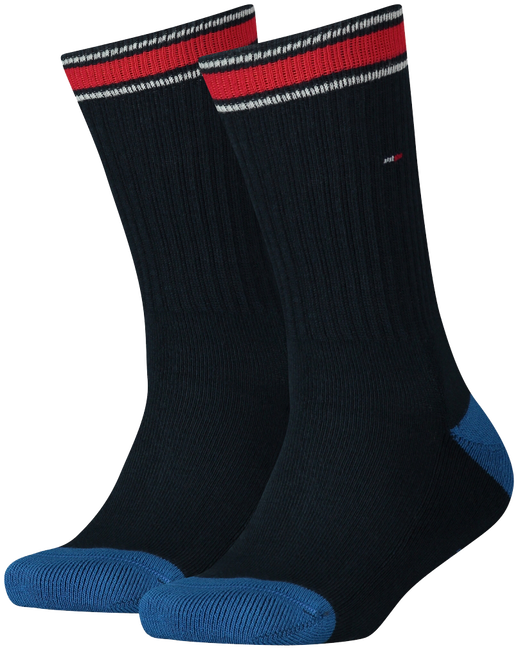 Blue TOMMY HILFIGER Socks TH KIDS ICONIC SPORTS SOCK 2P  - large