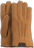 Cognac UGG Gloves CASUAL GLOVE WITH LEATHER LOGO - small