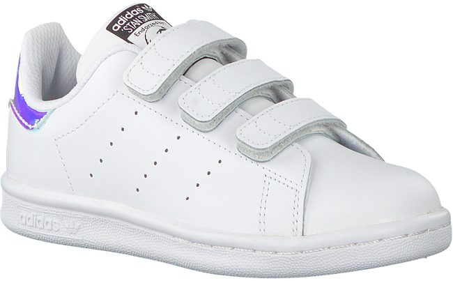 White ADIDAS Sneakers STAN SMITH KIDS VELCRO - large