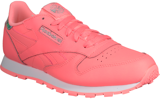 Pink REEBOK Sneakers CL LEATHER KIDS - large