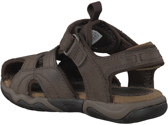 Brown TIMBERLAND Sandals OAK BLUFFS LEATHER FISHERMAN - large