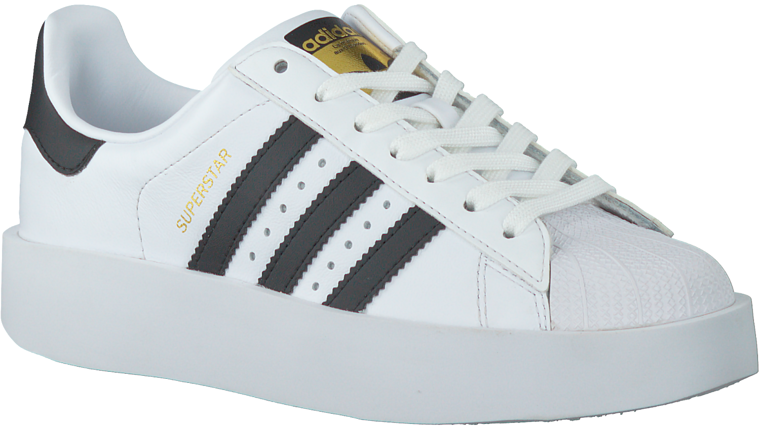 White ADIDAS Sneakers SUPERSTAR BOLD W - Omoda.com