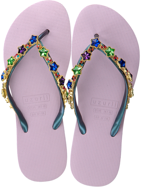 Purple UZURII Flip flops COLORFUL STAR - large
