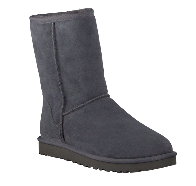 Grey UGG Fur boots CLASSIC SHORT - large