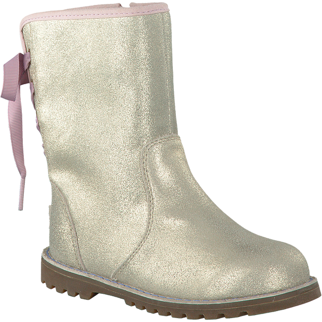 Gold UGG High boots CORENE METALLIC - large