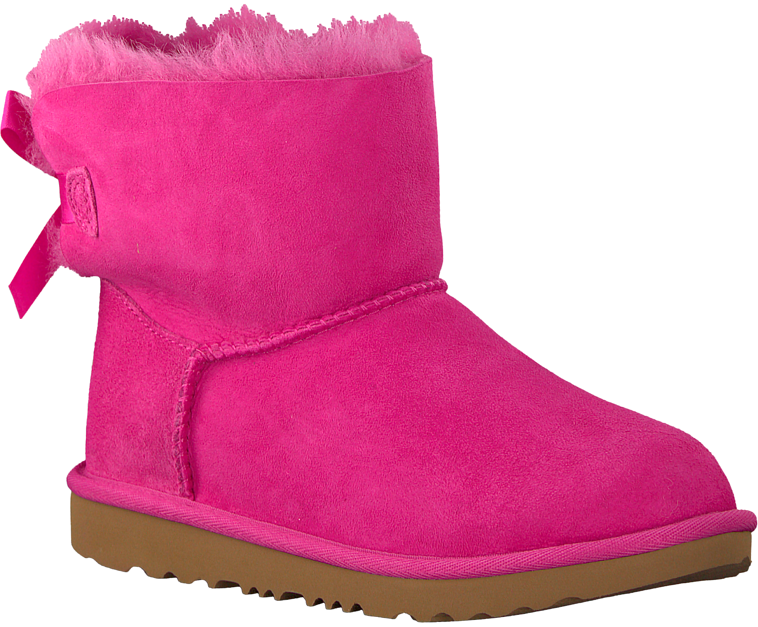 a0c0a52adc7 Pink UGG Classic ankle boots MINI BAILEY BOW II KIDS - Omoda