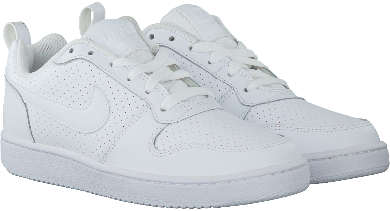White NIKE Sneakers COURT BOROUGH LOW WMNS - Omoda.com