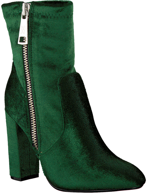 Green NIKKIE Booties VELVET ANKLE BOOTS - large