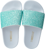 Green THE WHITE BRAND Flip flops GLITTER MATTE  - small