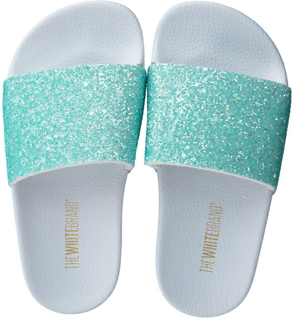 Green THE WHITE BRAND Flip flops GLITTER MATTE  - large