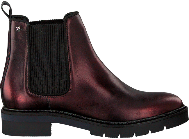 Brown TOMMY HILFIGER Chelsea boots METALLIC LEATHER CHELSEA BOOT - large