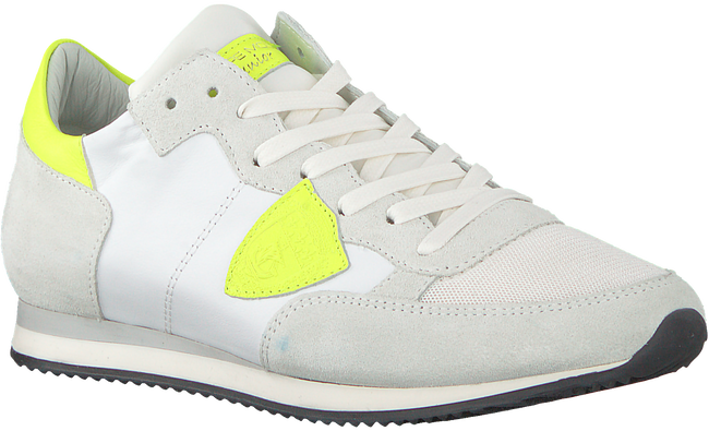 White PHILIPPE MODEL Sneakers TROPEZ NEON  - large