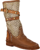 Cognac KARMA OF CHARME High boots TRICOT 2 - small