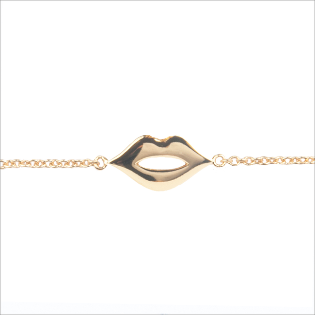 Gold ALLTHELUCKINTHEWORLD Bracelet SOUVENIR BRACELET LIPS - large
