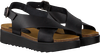 Black RED RAG Sandals 78068  - small
