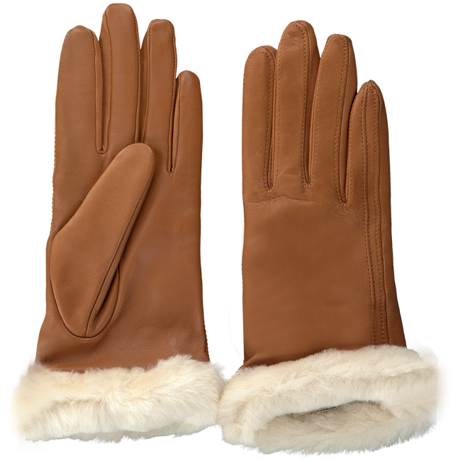 Cognac UGG Gloves CLASSIC LEATHER SMART GLOVE - large