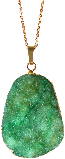 Gold JEWELLERY BY SOPHIE Necklace DRUZY GEMSTONE - large