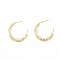 Gold NOTRE-V Earrings OORBEL PARELS BUITENKANT  - medium