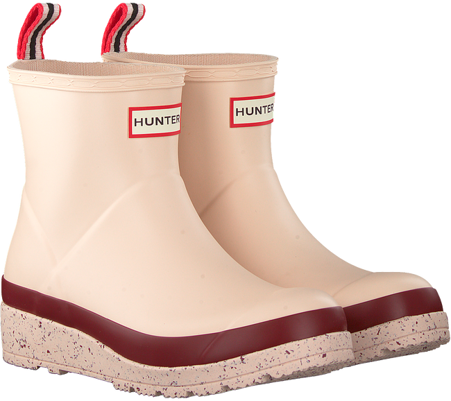 Pink HUNTER Rain boots WOMENS PLAY SHORT SPECKLE SOLE  - large