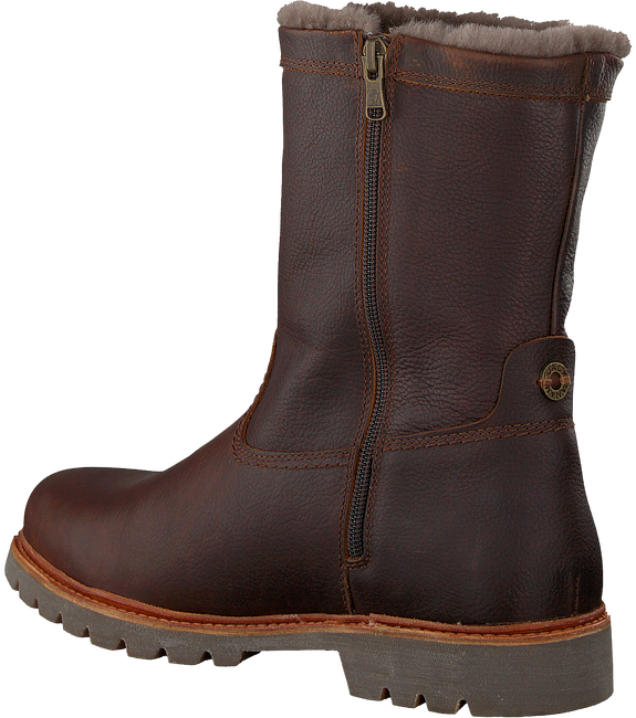 Brown PANAMA JACK Classic ankle boots FEDRO IGLOO C10 - large