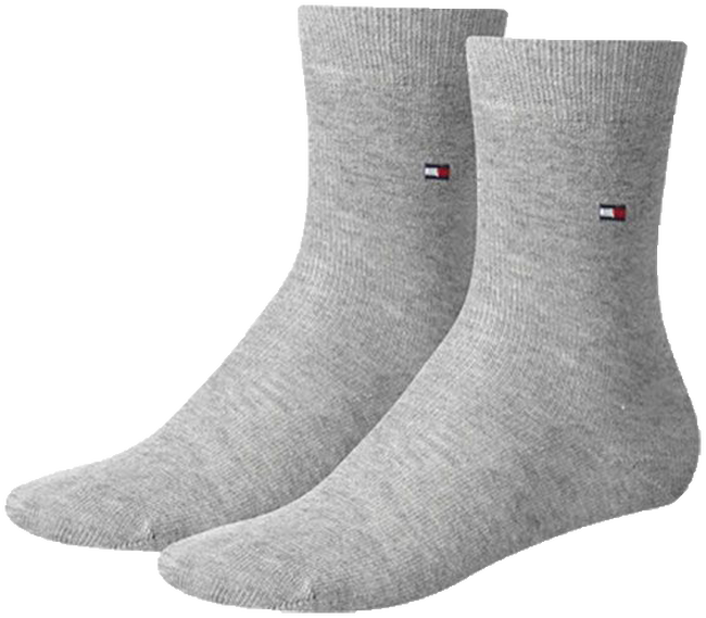 Grey TOMMY HILFIGER Socks TH CHILDREN SOCK TH BASIC 2P - large