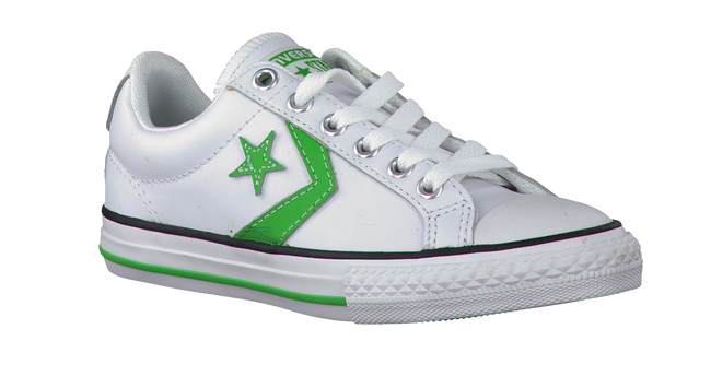 White CONVERSE Sneakers STAR PLAYER OX KIDS - large