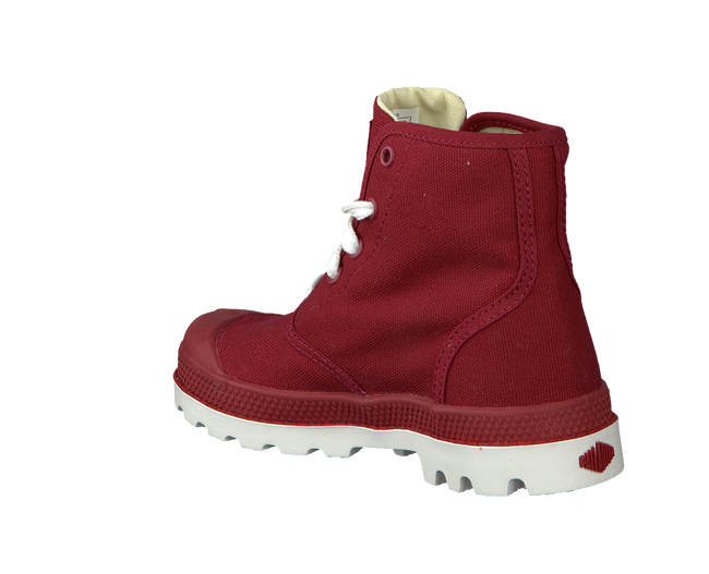Red PALLADIUM Ankle boots PAMPA HI LACE K - large