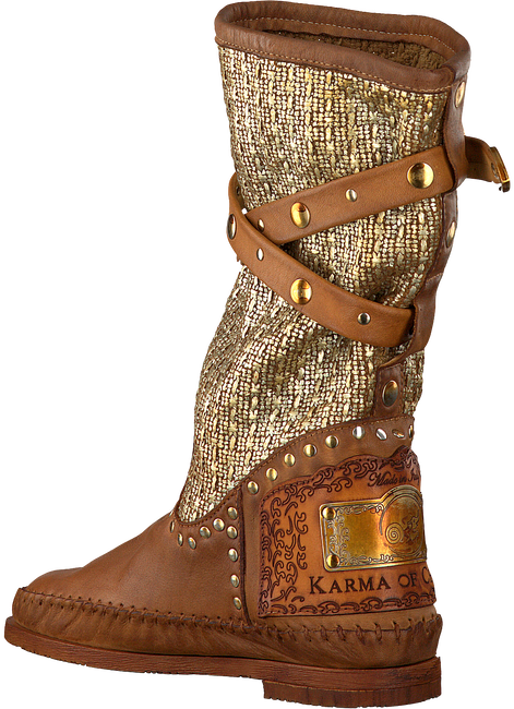 Cognac KARMA OF CHARME High boots TRICOT 2 - large