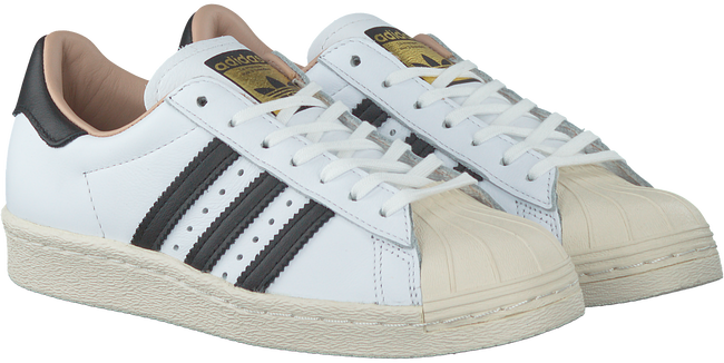 white adidas sneakers superstar 80s dames
