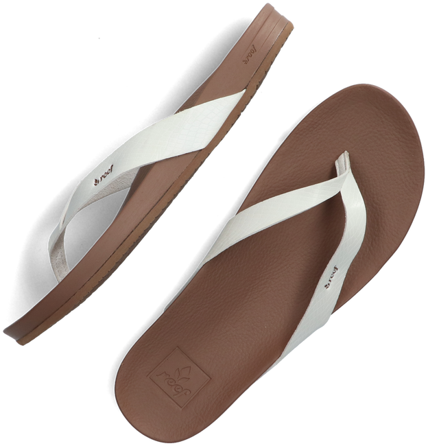 White REEF Flip flops CUSHION BOUNCE  - large