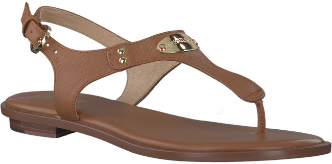 Cognac MICHAEL KORS Sandals MK PLATE THONG - large