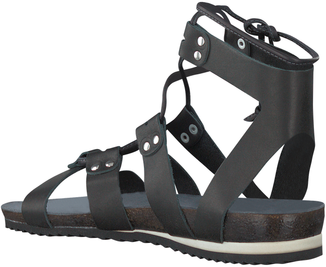 Black RED RAG Sandals 79106 - large