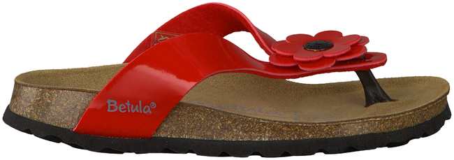 Red BETULA Flip flops LENE - large