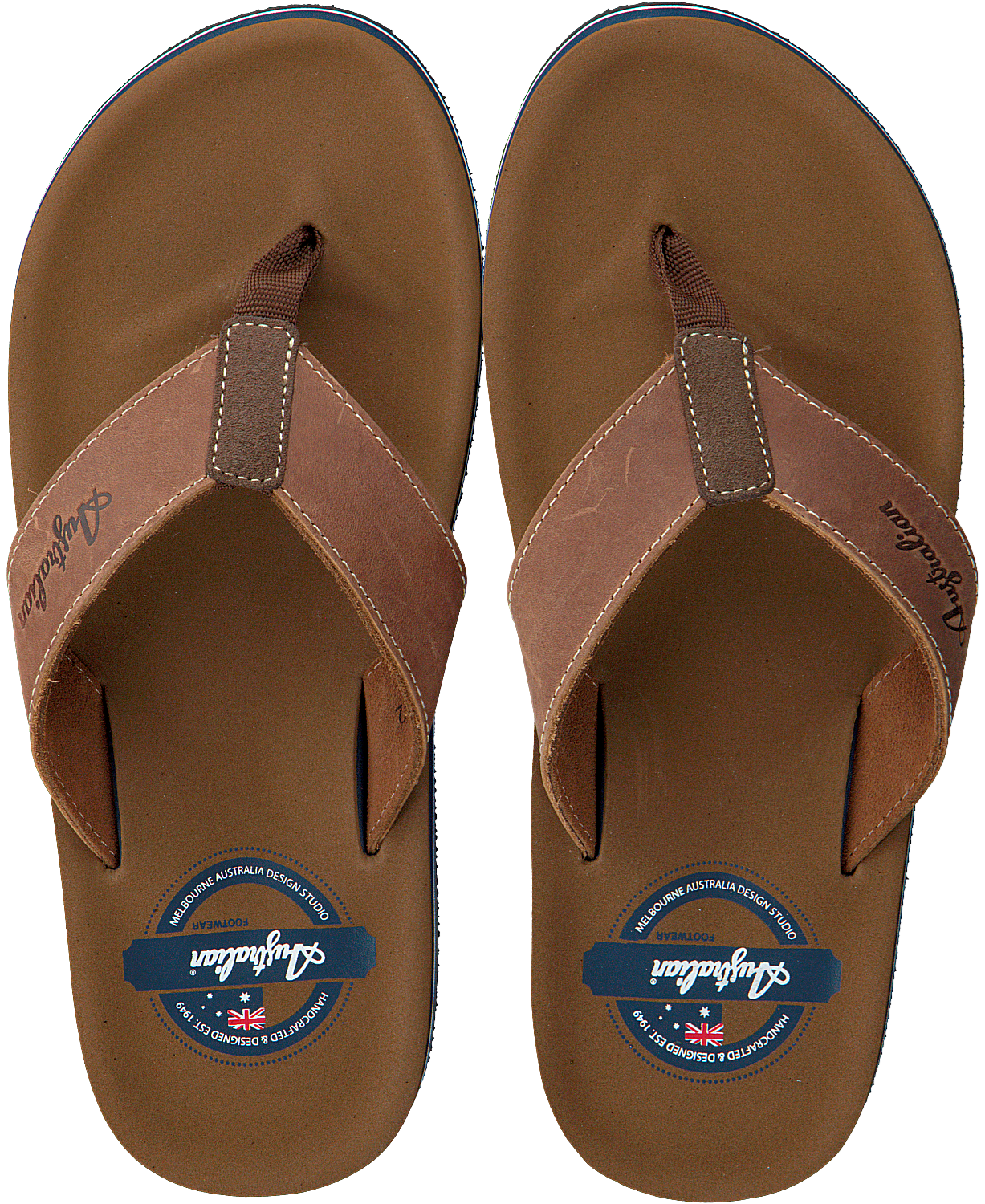 0e578bb23f677 Brown AUSTRALIAN Flip flops DOMBURG AT SEA - Omoda.com