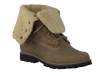 Green TIMBERLAND Ankle boots 6'FAUX SHEARLING BOOT - small
