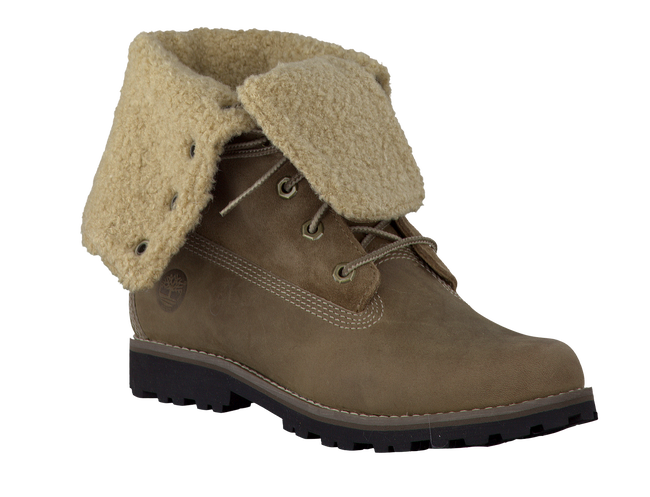 Green TIMBERLAND Ankle boots 6'FAUX SHEARLING BOOT - large