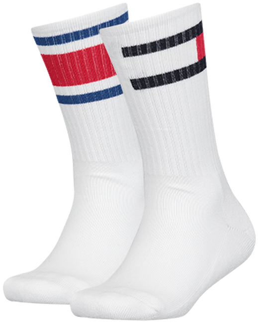 White TOMMY HILFIGER Socks TH KIDS FLAG 2P  - large