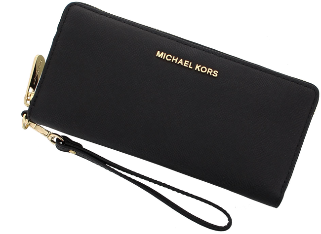 Black MICHAEL KORS Wallet TRAVEL CONTINENTAL - large