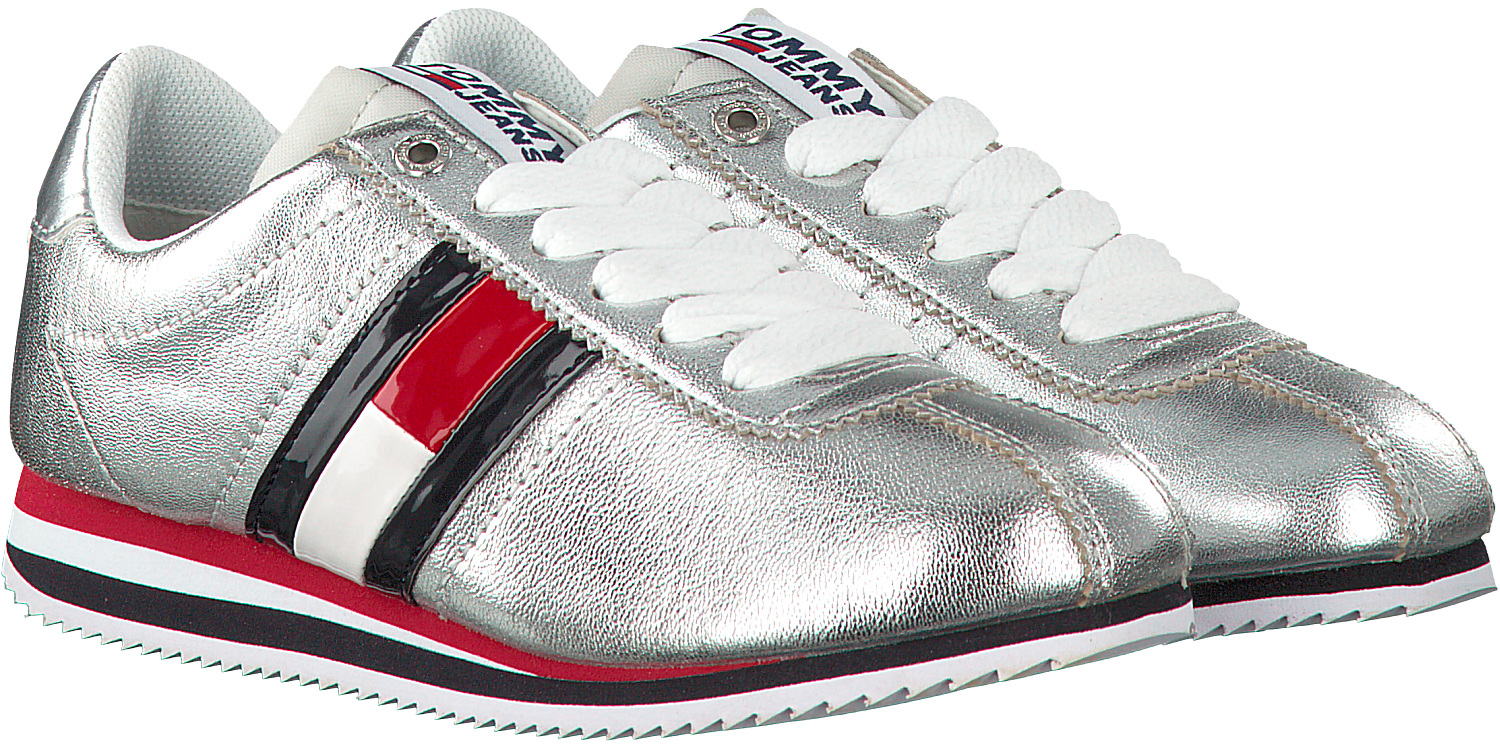 235e6be80 Silver TOMMY HILFIGER Sneakers TOMMY JEANS RETRO SNEAKER - Omoda.com