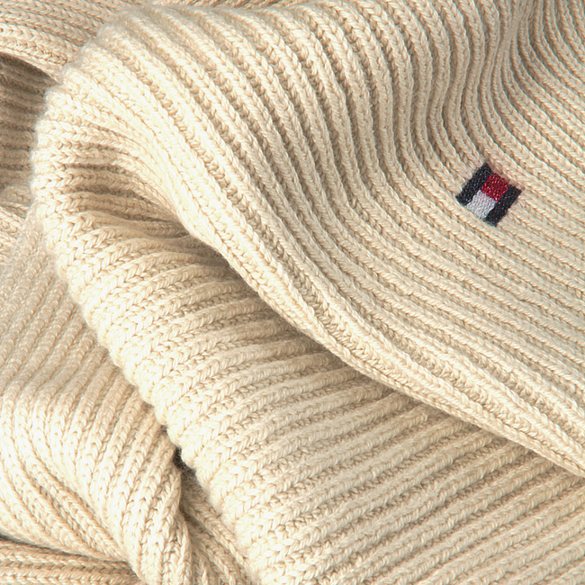 White TOMMY HILFIGER Scarf ESSENTIAL KNIT SCARF  - large