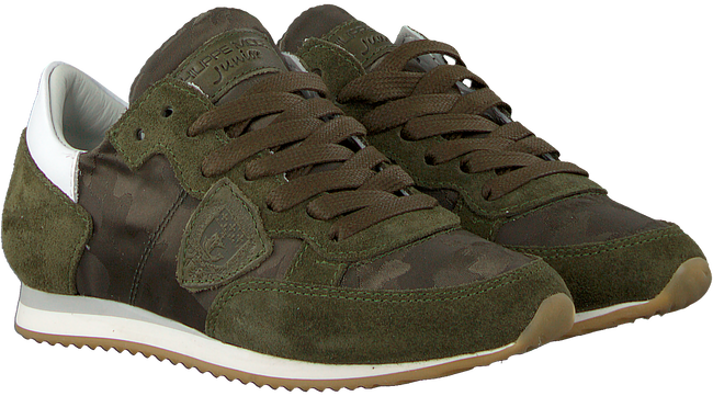 Green PHILIPPE MODEL Sneakers TROPEZ CAMOUFLAGE  - large