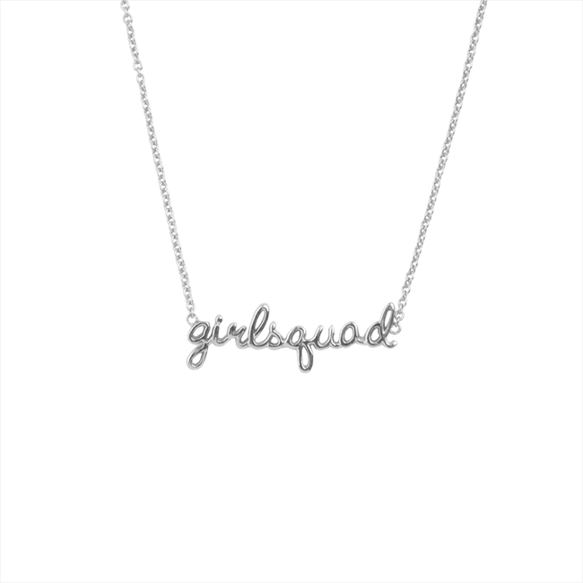 Silver ALLTHELUCKINTHEWORLD Necklace URBAN NECKLACE GIRLSQUAD - large