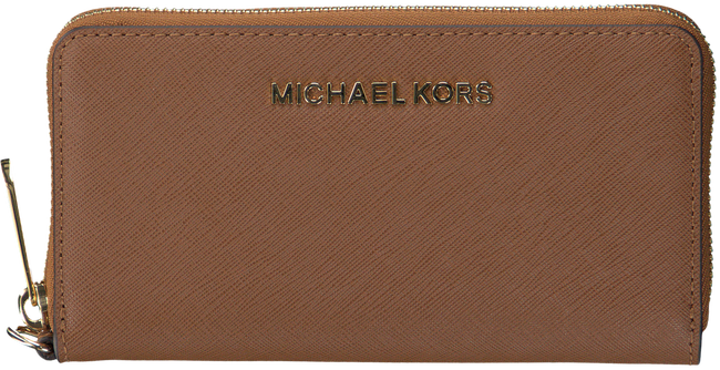 Cognac MICHAEL KORS Wallet JET SET TRAVEL LG COIN MF - large