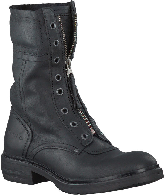 Black RED RAG Biker boots 76210 - large